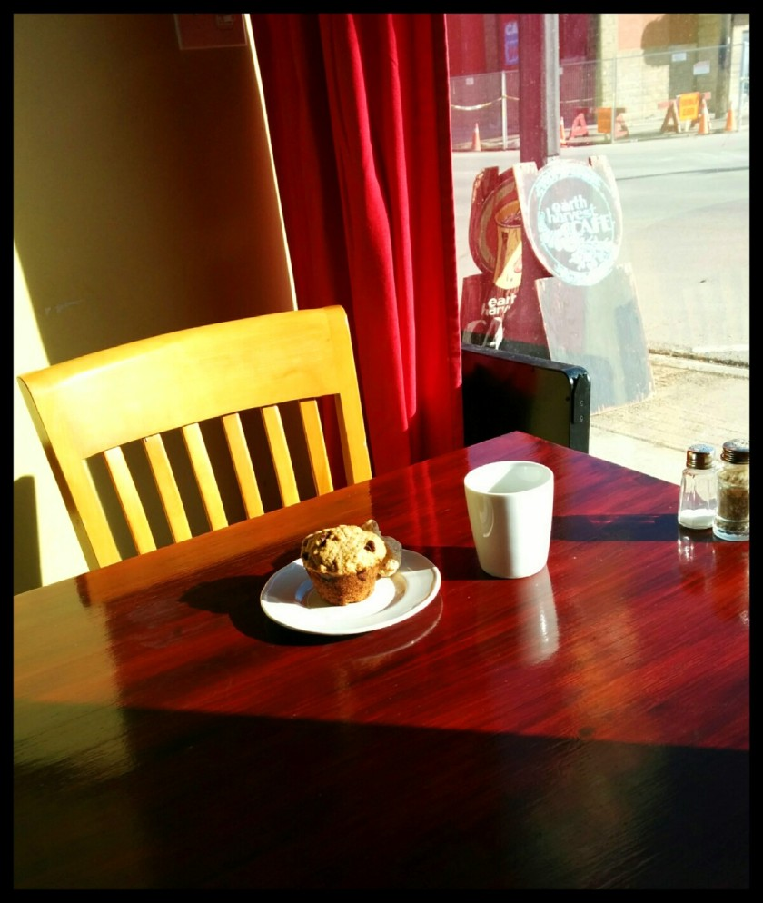 sun and muffin is bliss - earth harvest cafe